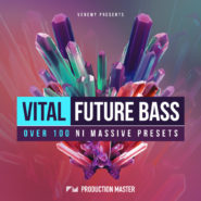 Vital Future Bass - Bantana Audio | Production Master Presents: Vital Future Bass presets Produced by Venemy, who has conquered many scenes with his extremely crisp productions and remix work (for AU5 amongst others), this pack is an extremely rare collection of brilliantly crafted and extremely professional future bass presets.  Whether you need, warm and lush pads, controllable sidechained synths, airy and sexy chords, bright leads or versatile plucks...this pack will deliver with a bang! Just pull up an instance of NI Massive and be amazed by the library of sounds that this pack contains. Be endlessly inspired and turn your next future bass / chill trap / neo soul production into a masterpiece.  Inspired by artists like Flume, Krne, Waveracer, Venemy, San Holo, Wrld, Allison Wonderland, Nghtmre, Boombox Cartel, Odessa, Point Point, Rustie, Mura Masa, Louisthechild, Chainsmokers, Rain Man, Martin Garrix, etc.  This pack contains 101 NI Massive presets:  5 Arps 25 Bass 19 Chords 17 Leads 8 Pads 27 Plucks presets are for NI Massive 1.4 or higher