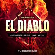 El Diablo House Vol. 1 - Bantana Audio | El Diablo is part EDM, part future house. Crunchy and wobbly leads, dramatic beats, deep basslines... all driven by the uplifting house pianos we all love! Produced by Venemy, one of the industry's top producers, this advance sound design pack will help to give you the edge by getting your ideas out faster with professional sounds by one of the industry's top producers. This pack is suitable for all the latest sub-genres of EDM and can be used across a wide range of applications limited only by your imagination.  Inspired by artists like Madison Mars, Don Diablo, Mesto, Martin Garrix, Justin Mylo, Mike Williams, Sam Feldt.  This pack is a production toolbox! In this collection you will find every sound, hit, beat, effect you need to make chart-topping EDM / future house that will blow your fans off their feet. This pack contains 75 Sylenth1 presets; in your face basses, screeching leads, dope chords, deep growls, thick bass layers, stabs and much more. 100% ready to use.  You also get 60 top of the line one-shots of the sickest synths and handcrafted house pianos, over 100 high quality drum hits with kicks, claps, rides, cymbals, hihats and blazin top loops! Lastly you get a bonus package of various midi files and piano loops to kickstart your creativity.  Let El Diablo into your house and grab your copy NOW!