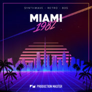 Miami 1982 - Bantana Audio | Miami 1982 brings you back to the golden age of the 80s, where flashy suits, coke and supercars ruled the streets. This brilliant pack offers you the best of the 80s era.