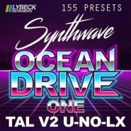 OCEAN DRIVE - ONE - Bantana Audio | Lybeck Instruments - Ocean Drive ONE is the first release from the SYNTWAVE-series Ocean Drive for TAL V2 U-NO-LX. 155 quality presets, easy to use that fits perfect into your productions.  What's inside: 155 Presets in 8 BANKS - ARP, BASS, BELLS, DRUMS, FX, KEYS, LEAD & PADS. Lybeck Instruments, Sweden.  OBS! the AUDIO demo contains drums & percussion NOT included in this product. OBS!