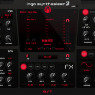 Ingo 2 - Bantana Audio   VST Instrument with unison, sync FM, 2 oscillators also 1 sub osc, 72 waveforms and pwm, contains 60 raw waveforms from Virus synthesizer, also ctrl a and ctrl b mode, it got 2 lfos with phase and 22 shapes, also one matrix, it got 2 mod envelopes and one amp envelope, also and it got 2 filter with two filter out one for each chanel, and there is 2 vowel filters, it got pitch bend and mod wheel, porta and one slide mode, Up to 16 voices polyphony, one main octave, bend range, velocity on/off, very handy for fast sounds, 64 Presets also an sequencer. 