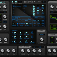Exotic 3 - Bantana Audio |  VST Instrument with unison, sync, FM and RM, 2 oscillators with 16 waveforms and ctrl a and b mode, one of them is wavedraw oscillator, it got 2 lfos with phase and 20 shapes, also one matrix, also 2 modifiers, also an amplifier and one multi envelope, and it got double filters and one vowel filter with level, it got pitch bend and mod wheel and aftertouch, porta with slide mode, Up to 12 voices polyphony, one main octave, bend range, velocity on/off, very handy for fast sounds, 99 Presets also an stepseq and one scope.