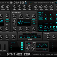 Indiago 2 - Bantana Audio | VST Synthesizer Instrument with unison, sync, FM and RM, 4 oscillators with 56 waveforms with pwm and also ctrl a and ctrl b mode, 2 wavedraw oscillators, it got 2 lfos with phase and 22 shapes, 2 modulation matrix, also 2 mod envelopes, also an amp envelope and it got double filters, and there is 2 vowel filters, it got pitch bend and mod wheel and aftertouch, porta with slide mode, Up to 16 voices polyphony, one main octave, bend range, velocity on/off, very handy for fast sounds, 99 Presets also an stepseq, and there is an sequencer to.